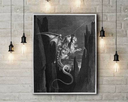 Gustave Dore: New Terror. Fine Art Canvas.